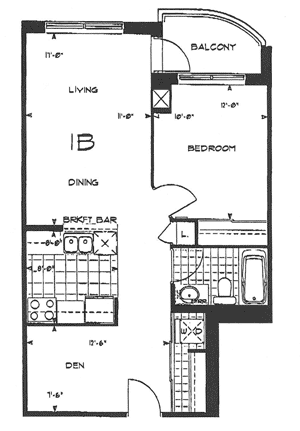 Forest Vista - 1 Bedroom Floorplan