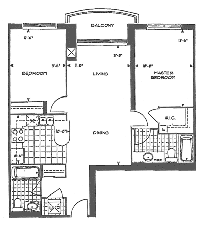 Forest Vista - 2 Bedroom Floorplan