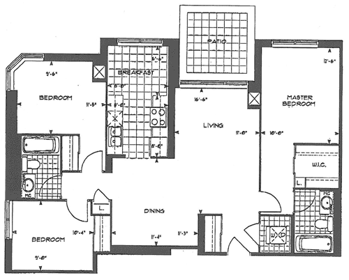 Forest Vista - 3 Bedroom Floorplan