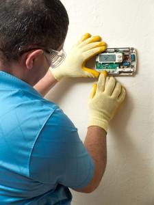 Hispanic air conditioning technician