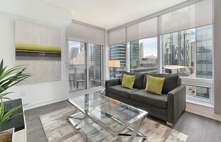 furnished suite living room