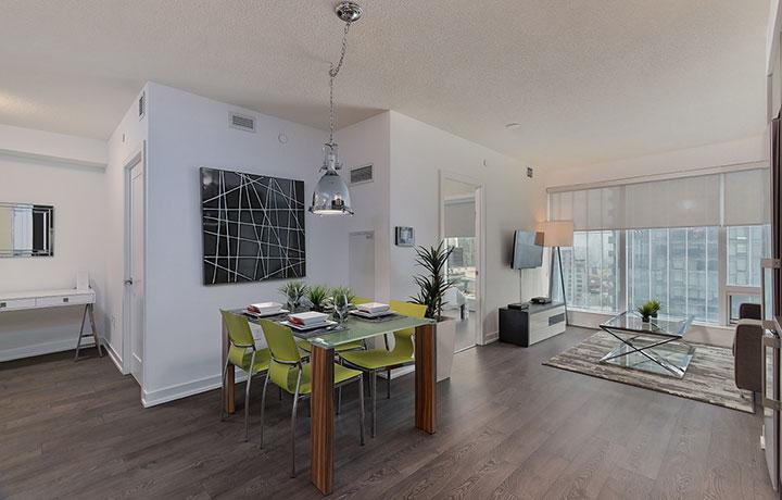 furnished suite main area