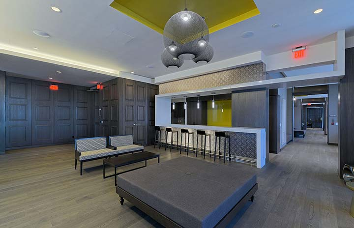 corporate housing party room