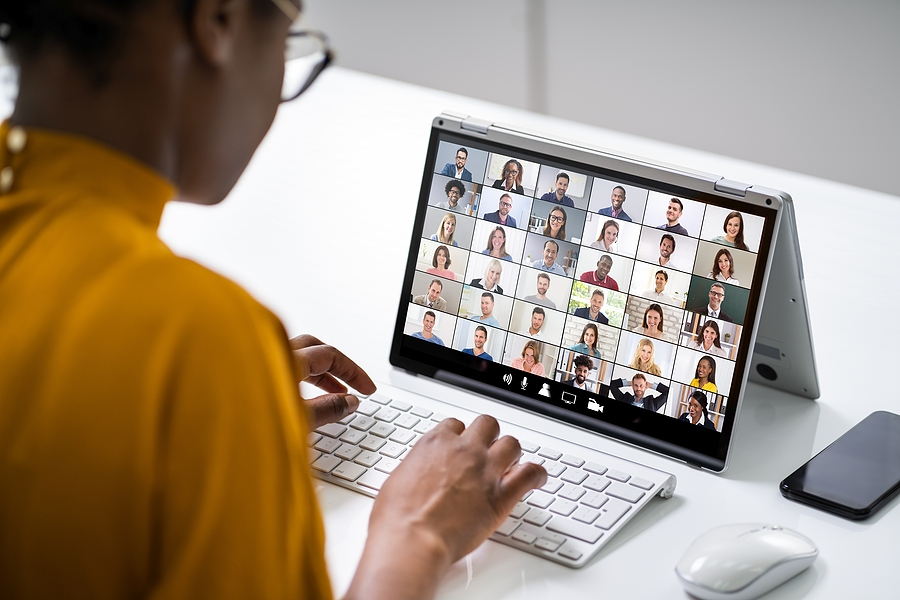 hybrid work video conference call